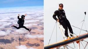 Watch: Dubai royal family princess Sheikha Latifa who jumps out of planes for thrills