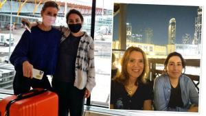 'Kidnapped' Princess Latifa pictured at Madrid airport