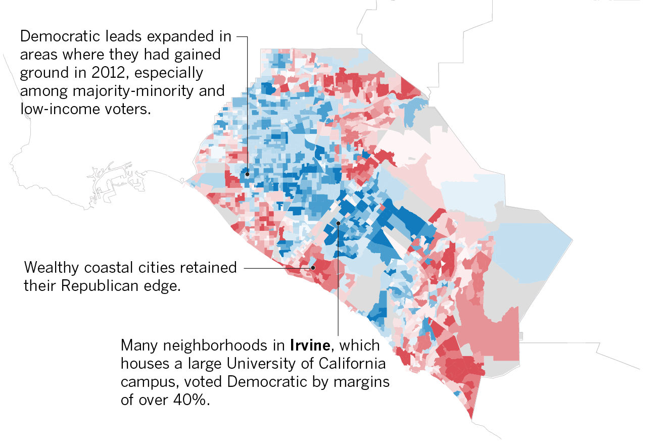 For The First Time Since Franklin D Roosevelt A Majority In Orange County Voted For A Democrat Los Angeles Times
