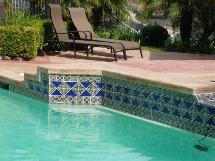 swimming pool tile latin accents