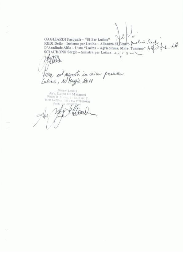 elezioni latina esposto - denuncia 4