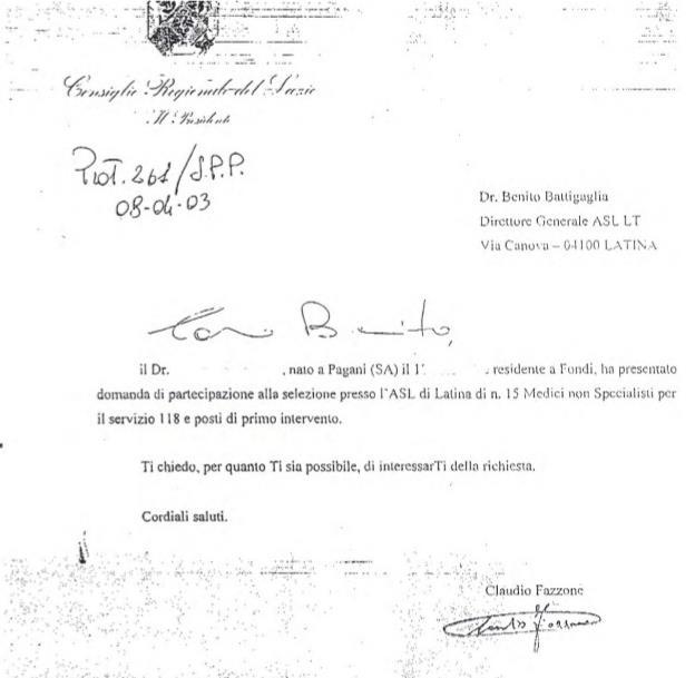 caro-benito-lettere-fazzone-battigaglia-latina24ore