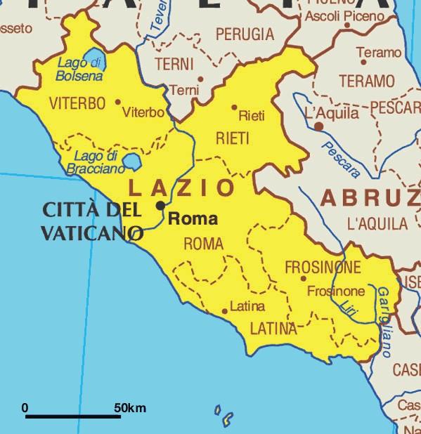 Regione Lazio Cartina Politica.Esiste Un Identita Del Lazio Indagine Del Censis Latina