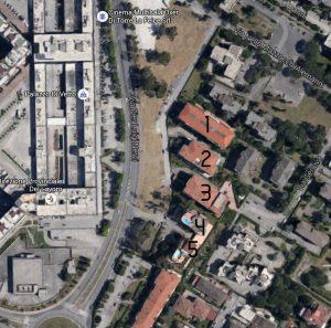 I 5 palazzi finiti nell'inchiesta dei carabinieri