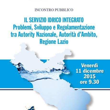 Locandina convegno sul Sistema Idrico Integrato latina
