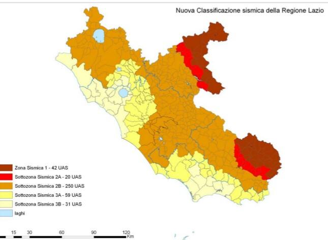 La classificazione del rischio sismico nel Lazio