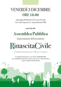 rinascita civile assemblea