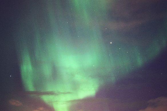 Couchsurfing Iceland, aurora