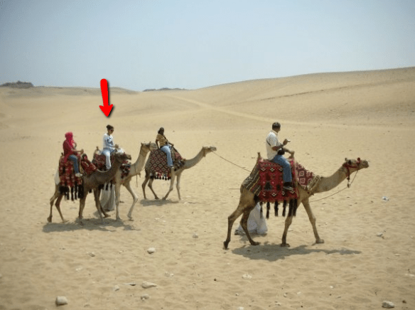 woman solo travel Great Pyramids camel ride