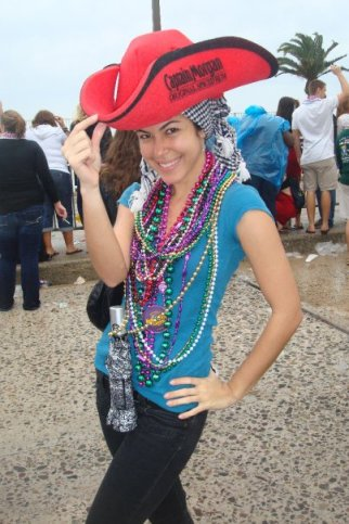 Tampa Mardi Grass parade outfit