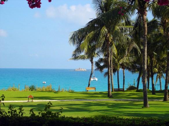 Chinese beach hotel in Sanya, Hainan province