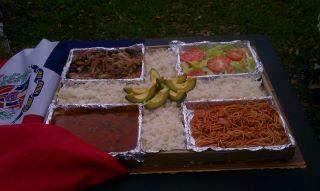 Dominican Republic food, flag food plate