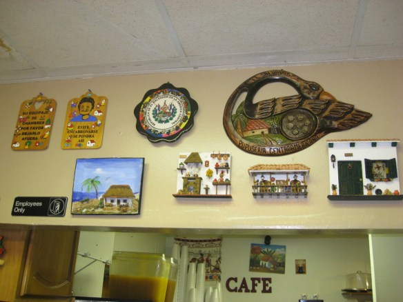 pupuseria in Tampa, restaurant decor and signs