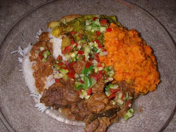 Indian lamb pasanda curry