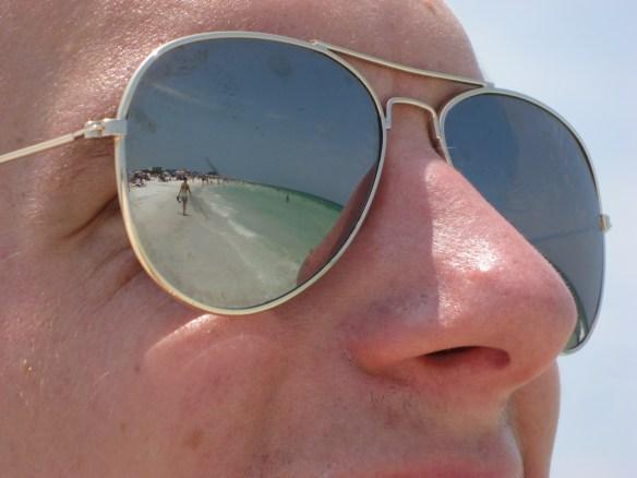 Siesta Key beach FL Aviators shot