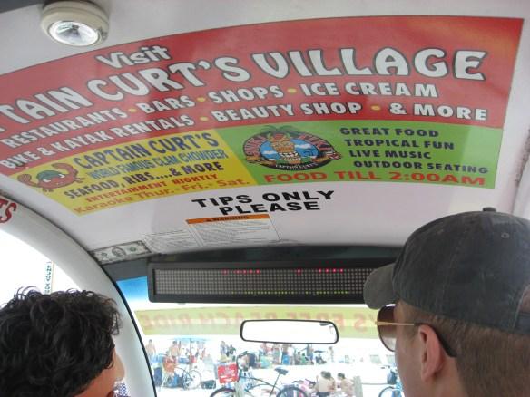 Sieta beach FL cart signs