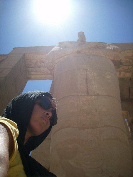 Ramesseum Luxor, ancient ruins statue