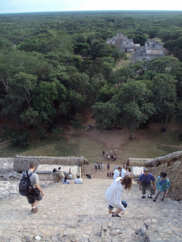 Ek Balam Mayan Temple climb