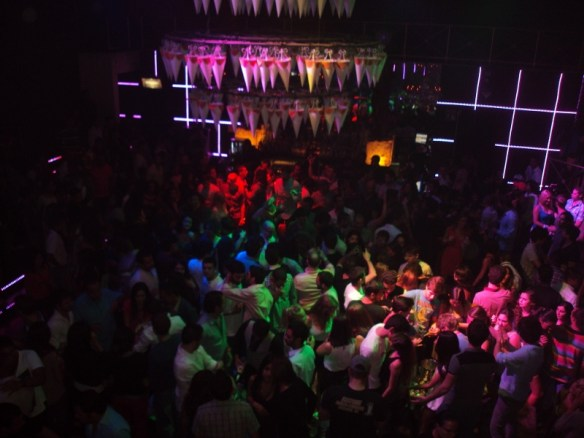 Playa Del Carmen nightclubs review, Palazzo VIP balcony view