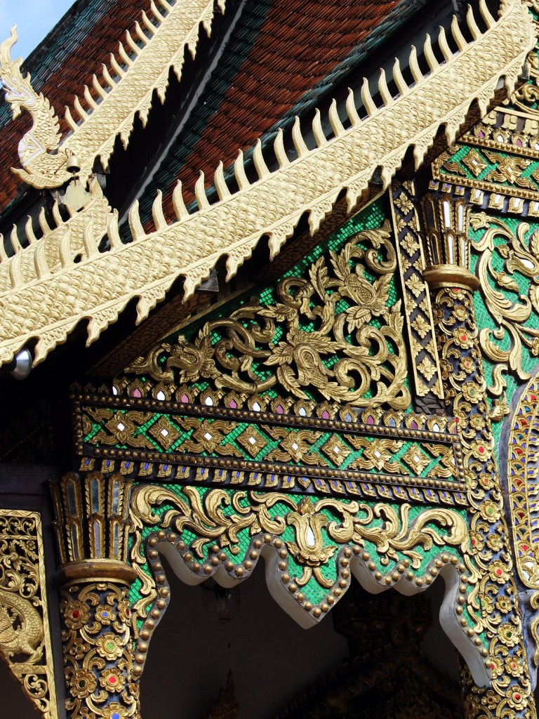 Chiang Mai temple hopping, intricate decor