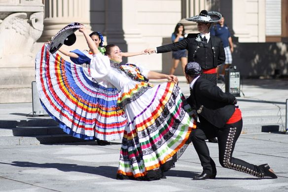Mexican customs and traditions, hat dance