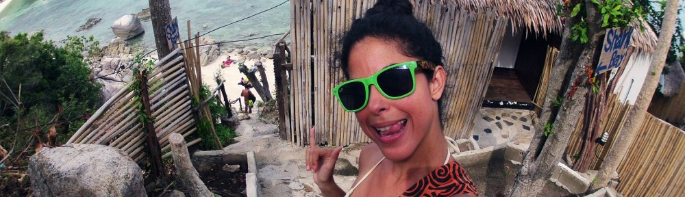 ugly day in Koh Tao Road trip bikini selfie