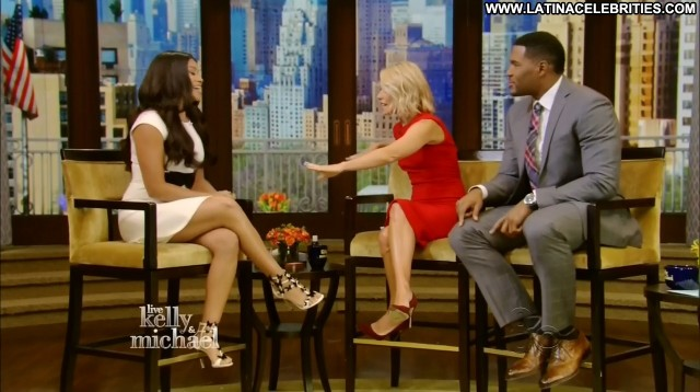 Gina Rodriguez Live With Kelly And Michael Celebrity Brunette Medium
