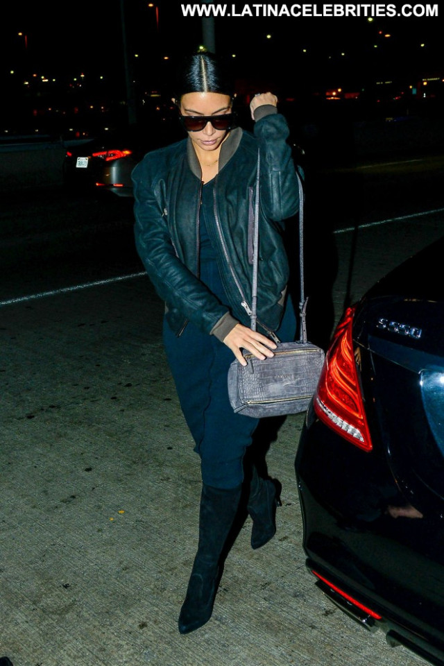 Kim Kardashian Lax Airport Paparazzi Lax Airport Posing Hot Beautiful