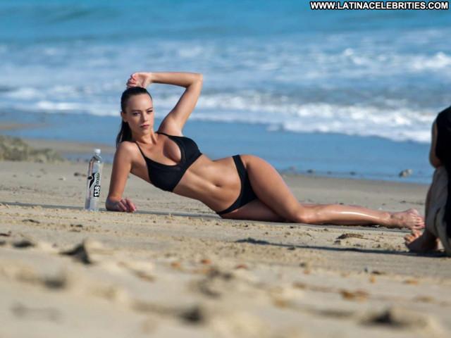 Charlotte Mckinney The Red Carpet Sea Bikini Celebrity Photoshoot Wet