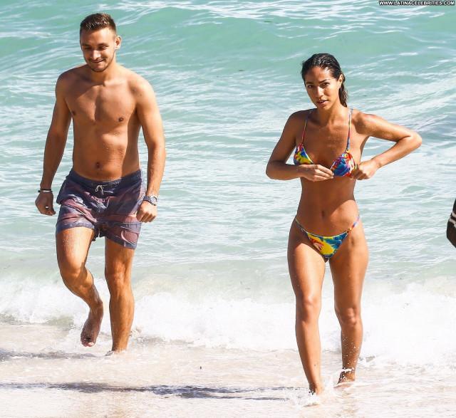 Replies Miami Beach Sexy Babe Celebrity Beach Posing Hot Sex Bikini