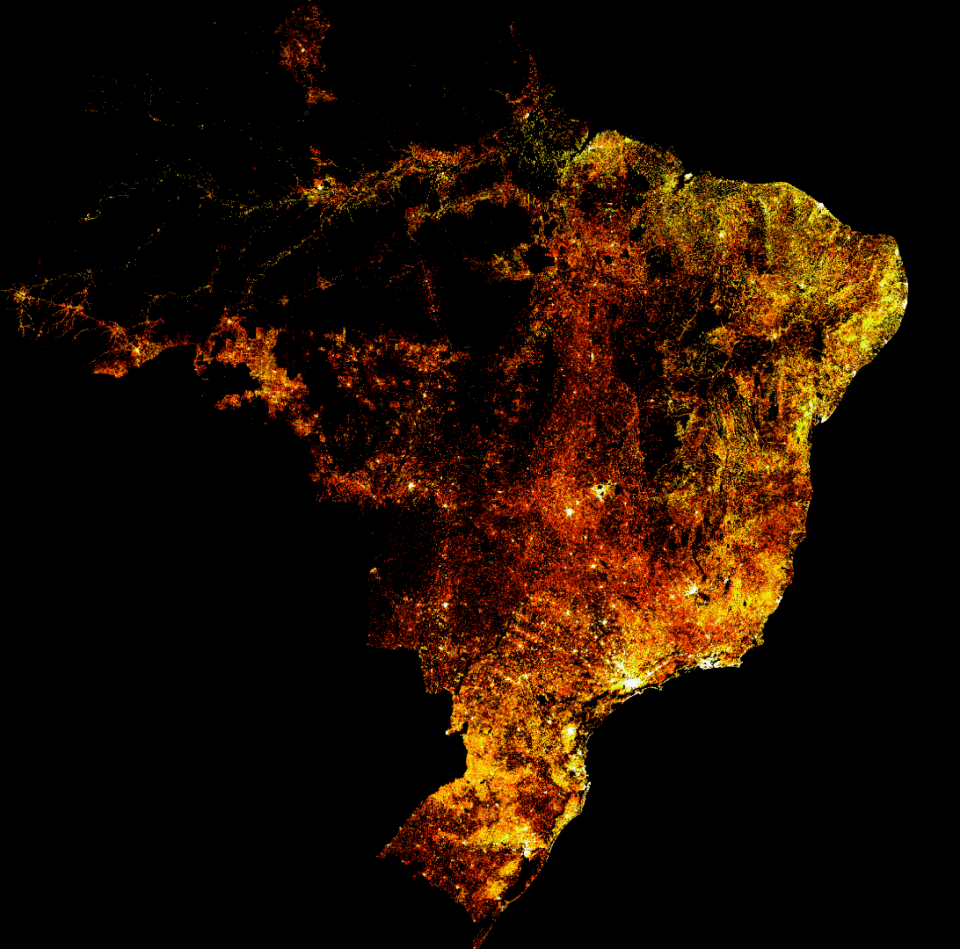 High-res high-resolution map brazil population facebook