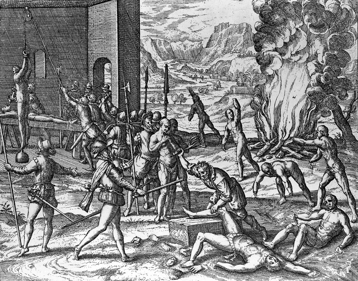 Theodor De Bry Black Legend Spanish Atrocities