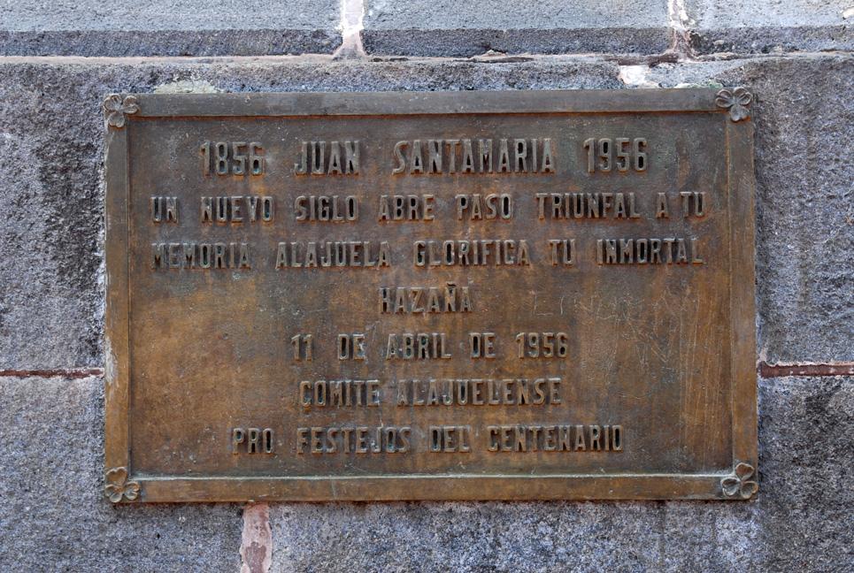 Monumento a Juan Santamaría   Mi Costa Rica de Antaño