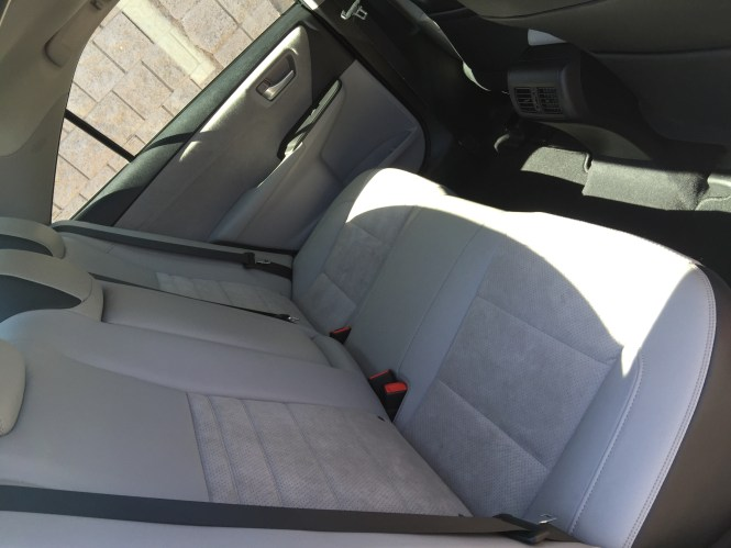 Leather Suede Upholstery in the 2016 Camry