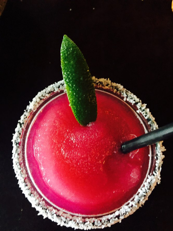 Prickly Pear Margarita tres agave tequila, prickly pear, fresh sour