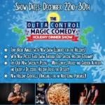 Family Fun at Outta Control Magic Comedy Dinner Show , With a Holiday Twist