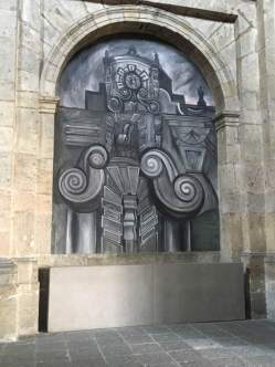 Debra Gallegos Day 2 Orozco mural in Institute of Art