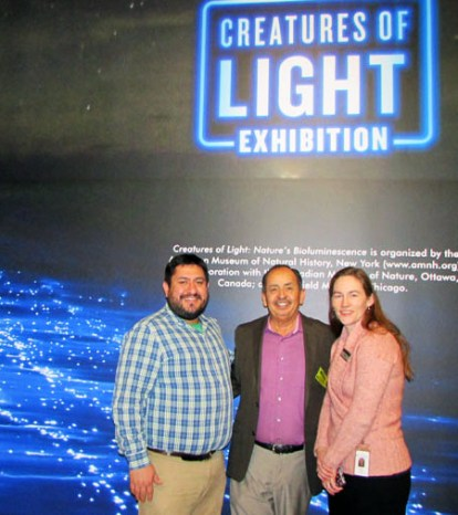 A special thanks to Eric Godoy (left) Partnership Programs Coordinator & Maura O'Neal,Communications and Media Relations Manager for the Denver Museum of Nature & Science, for showing me around this unique and special exhibit.