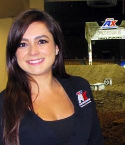 Andrea Ocampo at the Arena Motorcross track at the Denver Coliseum. Photo by Joe Contreras, Latin Life Denver Media