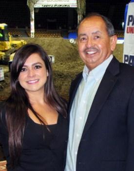 Andrea Ocampo with Joe Contreras, Latin Life Denver for Arena Motor Cross Weekend.