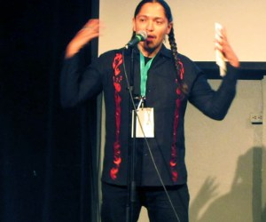 "Andrian Molina ""Moina Speaks"" performs as part of his debut for his first film festival screening of his dreamscape feature film ROOT"