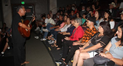 """Actor & Songwriter Daniel Valdez serenades the Gonzales family with the Mexican birthday song """"Las Mananitas"""" i"""