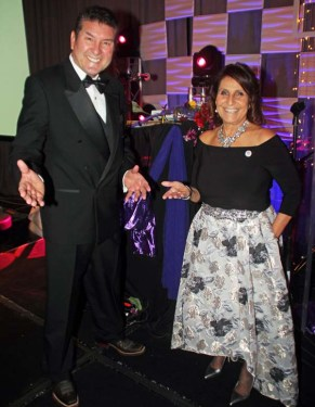 Master of Ceremonies, Luis Canela of Telemundo Sports with Stella Madrid DHA Intergovernmental & Community Affairs Officer