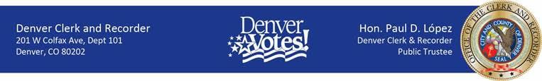 Denver Clerk & Recorder