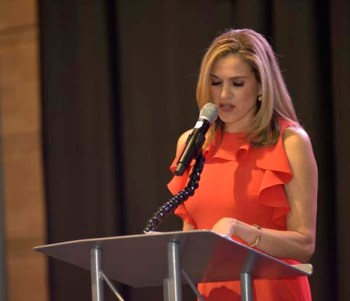 Mistress of Ceremonies Vanessa Bernal welcomed a sold out audience to the first ever Mexican Cultural Center Gala Fundraiser. Photo by Marco Briones