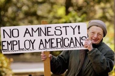 NoAmnestyEmployAmericansSign