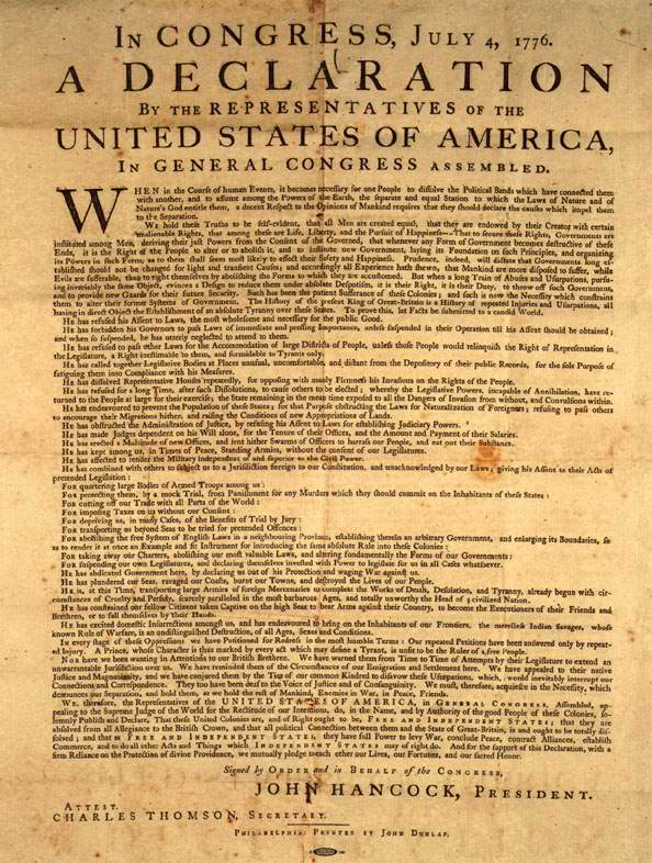 the declaration of independence the full text in english and spanish the declaration of independence the