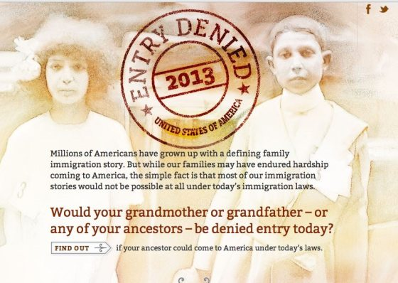"Interactive ""Entry Denied"" Site: What If Today's Immigration"