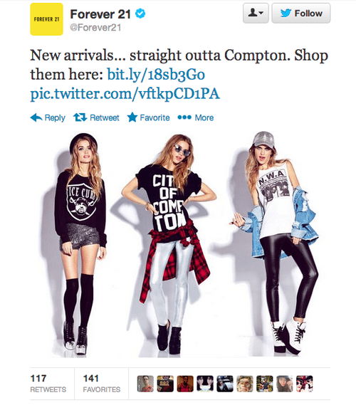 Forever-21-Publishes-Straight-Out-of-Compton-Campaign-Incites-Outrage