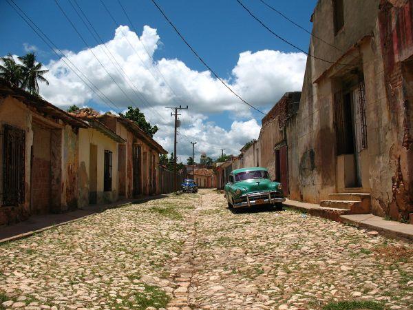 A street in Trinidad, Cuba. (CREDIT: José Porras, Wikimedia Commons)